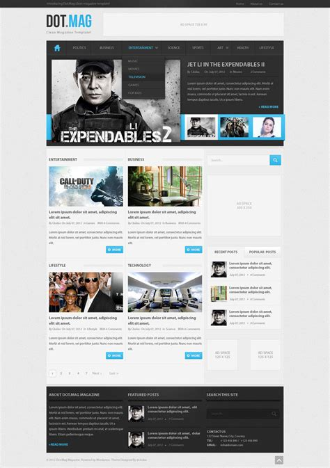 dot mag psd wordpress magazine template by sylographix on