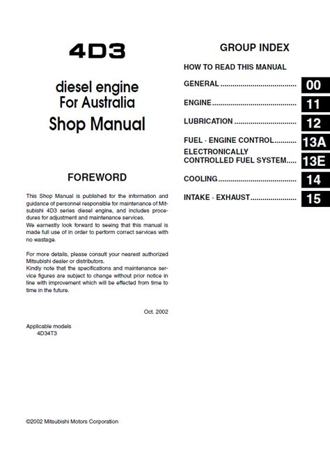 auto repair manual online 1989 mitsubishi truck electronic toll collection mitsubishi fuso canter truck service manual pdf