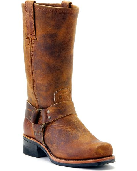 frye boots mens frye s harness engineer 12r boot square toe 87350