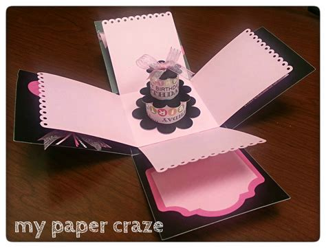 how to make explosion box handmade birthday card related image diy handmade birthday cards