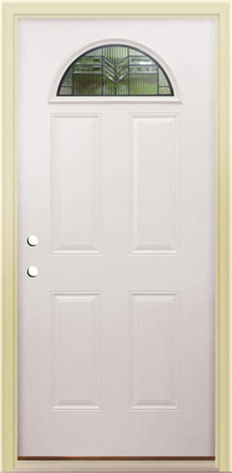 Menards Mastercraft Exterior Doors Mastercraft As 135 Steel Half Moon Prehung Ext Door At Menards 174