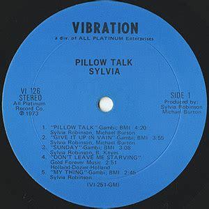 Sylvia Pillow Talk Free Mp3 by Sylvia Robinson Pillow Talk Lp Vibration 1973 Usオリジナル
