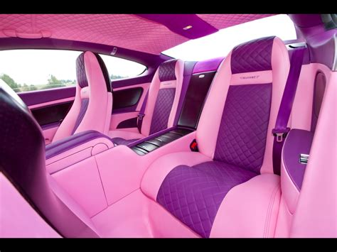 pink bentley interior 2010 mansory bentley vitesse rose rear seating