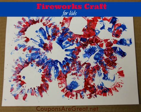 Paper Fireworks Crafts - patriotic craft for painted toilet paper roll fireworks