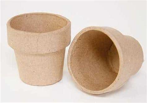 How To Make Paper Mache Pots - paper mache flower pot paper mache basic craft