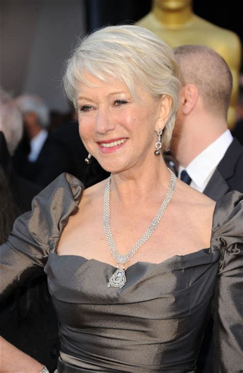 hairstyles for gray hair 2011 helen mirren photos photos 83rd annual academy awards