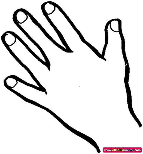 coloring pages of hands with nails el resmi boyama sayfası