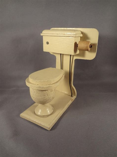 wooden toilet paper roller wood toilet for doll house with paper roll from