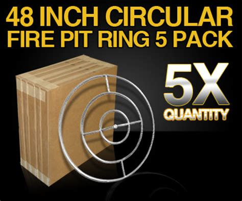48 pit ring contractor pack 48 inch stainless steel circular