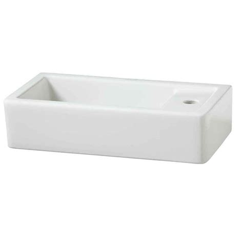 porcher bathroom sinks shop porcher porcher solutions white clay wall mount