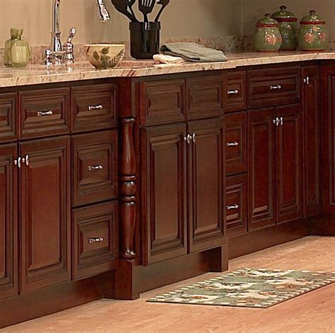 Kitchen Cherry Wood Cabinets All Solid Maple Wood Kitchen Cabinets 10x10 Rta Jsi Georgetown Cherry Stained Ebay