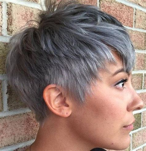 edgy gray hairstyles 50 edgy shaggy messy spiky choppy pixie cuts pixies