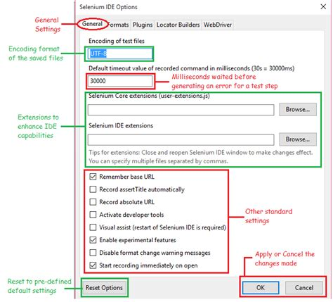 java pattern optional 7d selenium ide know your ide features