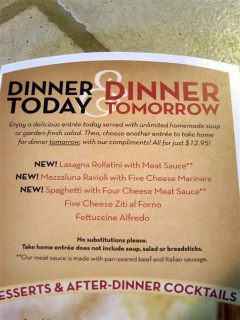 Olive Garden Dinner Menu by 04 Olive Garden Today Tomorrow Menu Me So Hungry