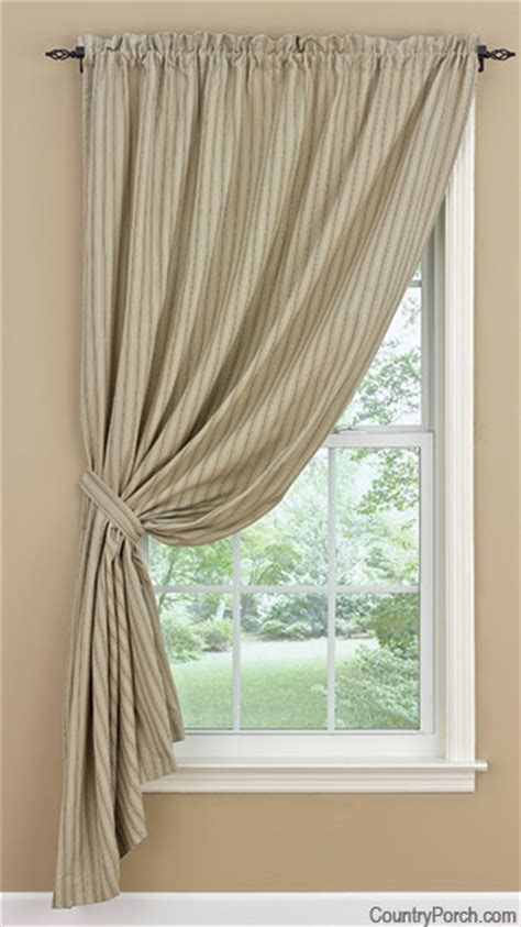 One Panel Curtain Ideas Designs Millstone Lined Single Tieback Curtain Panel