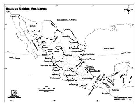 mapa de mexico con rios mapa para imprimir de m 233 xico mapa de r 237 os de m 233 xico inegi