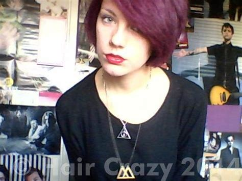 Slightly Punky And 90s Inspired By Magenta 2 by Hair Timelines Haircrazy