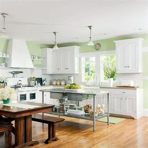 Green And White Kitchen Cabinets 64 Unique Kitchen Island Designs Digsdigs