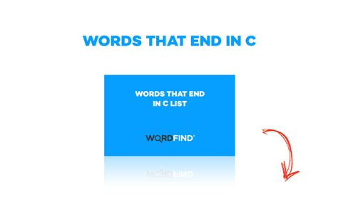 words that end with c scrabble words that end in c list