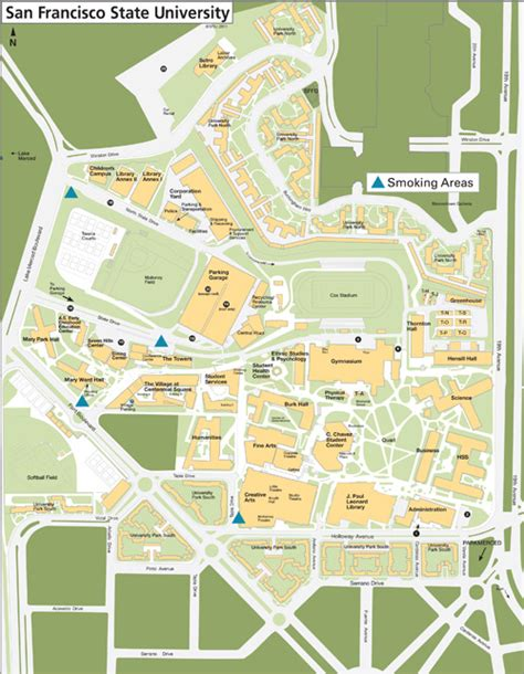 sfsu map san francisco state cus map michigan map