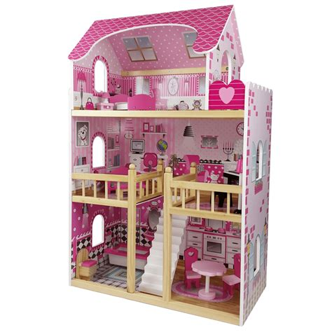 wooden doll house singapore butternut 3 storey large wooden dolls house and accessories toyz world