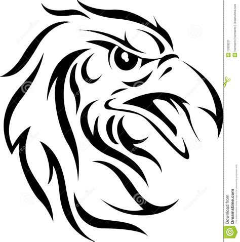 tribal eagle head tattoo eagle stock vector illustration of feather