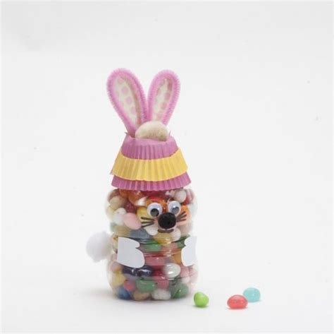 crafts with plastic bottles for jelly bean bunny bottle craft tutorial recycled plastic