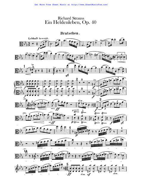 Free Sheet Music For Ein Heldenleben Op 40 Strauss
