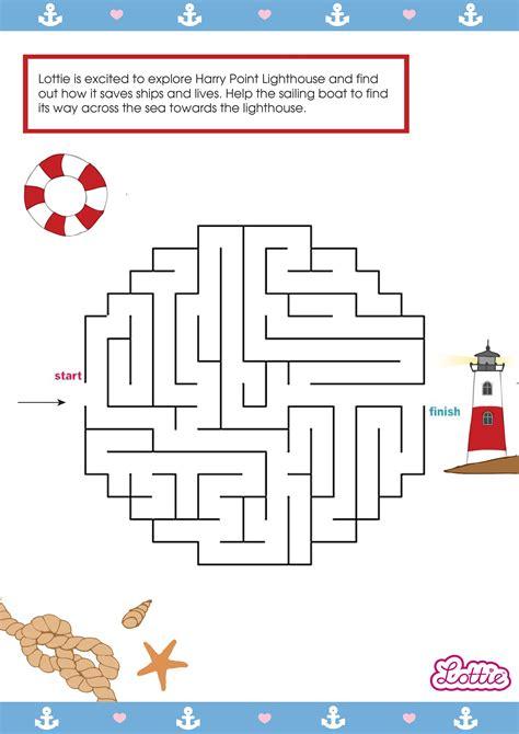 lottie doll lighthouse keeper lighthouse keeper lottie printable maze lottie dolls