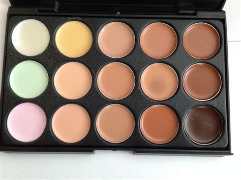 color concealer 15 color concealer and contour palette with brush face