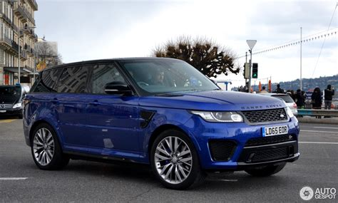Land Rover Range Rover Sport Svr 15 January 2017