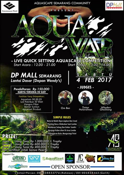 aquascape competition aqua war aquascape competition jadwal event info pameran acara promo terbaru