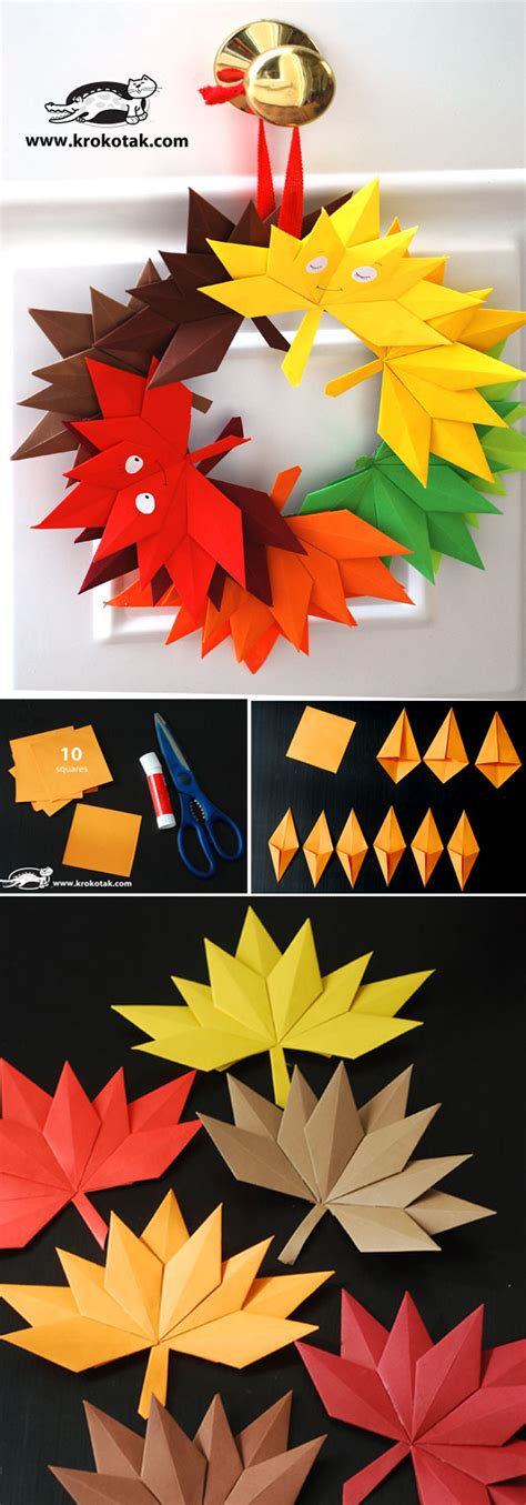 Autumn Paper Crafts - autumn paper leaves craft autumn paper