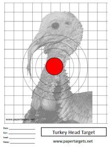 printable turkey target pdf animal shooting targets paper targets net