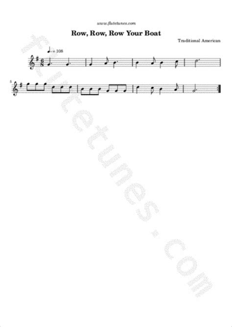 row your boat time signature row row row your boat trad american free flute