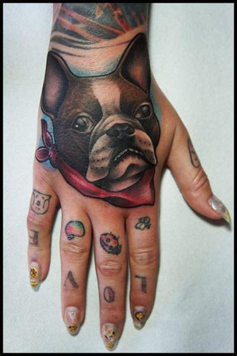 tattoo hand on back bulldog back of hand tattoo by white rabbit tattoo best