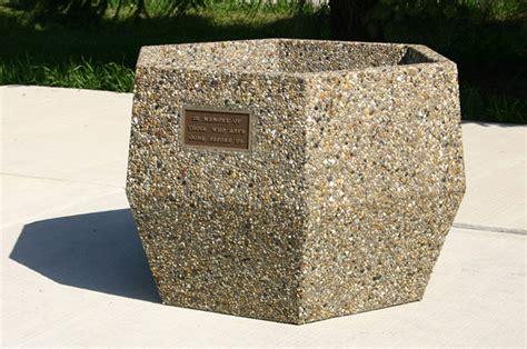 Hexagon Planter by Memorial Hexagon Planter P4500m Doty Concrete