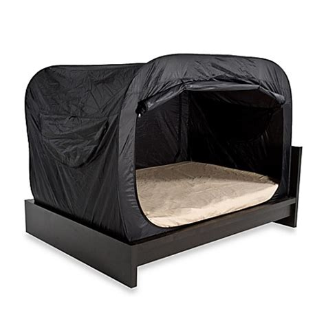 buy privacy pop queen bed tent in black bedding accessory