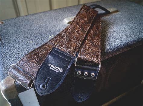 couch guitar straps the dark brown western guitar strap deadstock luggage