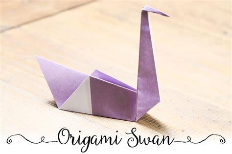 easy origami swan tutorial