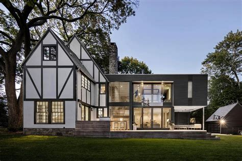 modern tudor homes renovation of a tudor style residence that is preserving