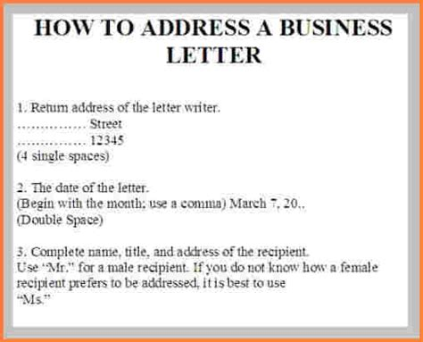 Business Letter Address Addressing A Letter Images Search