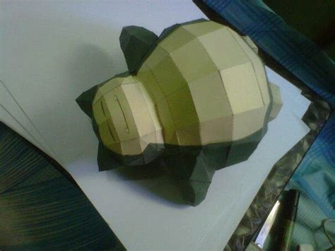 snorlax sleeping mode papercraft by chipiy on deviantart
