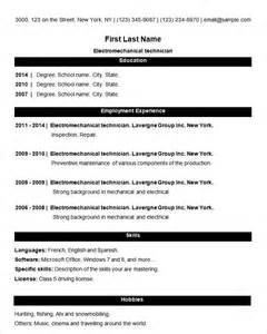 basic resume template 51 free sles exles format