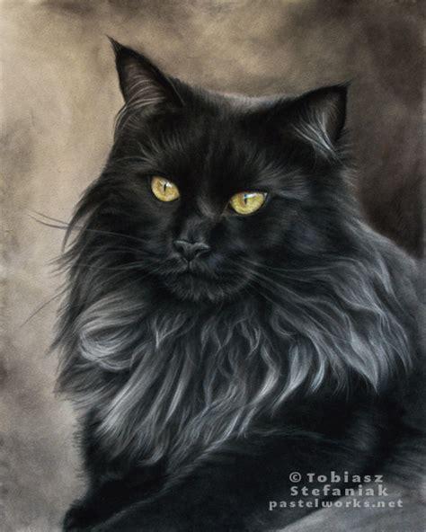 Maries Silver Cat Acrylic maine coon noir animalier