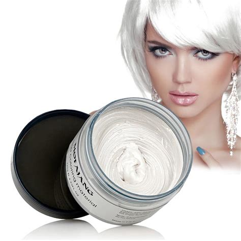 color wax white colour hair wax