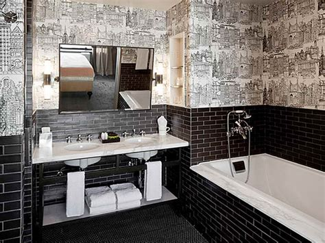 Small Black Bathroom Tiles M Wall Decal Black Tile Bathroom Ideas
