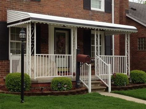 Aluminum Awning Posts by Aluminum Awning With Quot S Quot Scroll Columns Houses