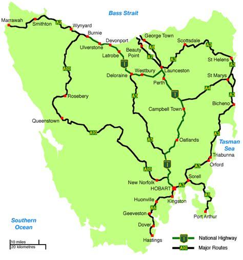 printable road map of tasmania printable road map of tasmania detailed map of tasmania