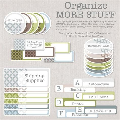 printable labels organizing organizing labels label for and printable labels on pinterest